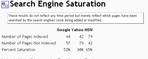 Search Engine Saturation